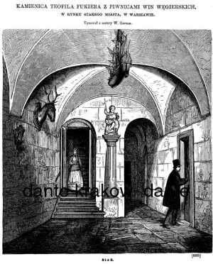 Kamienica Teofila Fukiera z piwnicami - zdjęcie reprintu, mapy