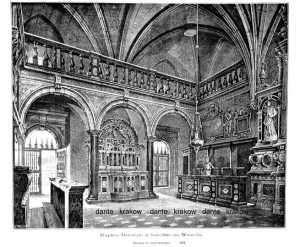 Kaplica Batorego w katedrze na - zdjęcie reprintu, mapy
