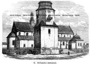 Kielce. Kollegiata i dzwonnica - zdjęcie reprintu, mapy