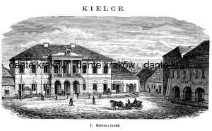 Kielce. Ratusz i Rynek - zdjęcie reprintu, mapy