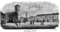 Kościół Farny w Wieluniu - zdjęcie reprintu, mapy