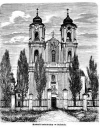 Kościół katedralny w Sejnach - zdjęcie reprintu, mapy