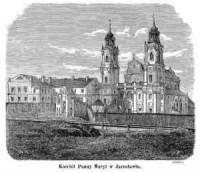 Kościół Panny Maryi w Jarosławiu - zdjęcie reprintu, mapy
