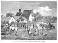 Kościół Reformatów i Plac Targowy w Przemyślu - zdjęcie reprintu, mapy