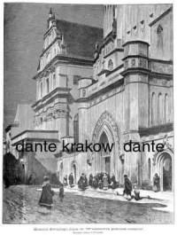 Kościół Świętego Jana w Warszawie podczas roratów - zdjęcie reprintu, mapy