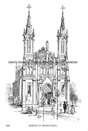 Kościół w Ciechocinku - zdjęcie reprintu, mapy