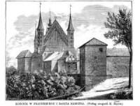 Kościół w Frauenburgu i baszta narożna - zdjęcie reprintu, mapy