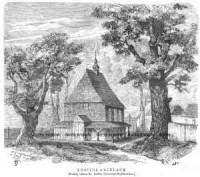 Kościół w Gidlach - zdjęcie reprintu, mapy
