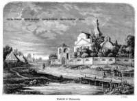 Kościół w Oleksowie - zdjęcie reprintu, mapy