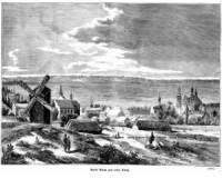 Miasto Warta nad rzeką Wartą - zdjęcie reprintu, mapy