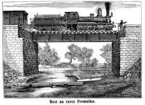 Most na rzece Promniku - zdjęcie reprintu, mapy