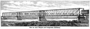 Most na rzece Wieprzu pod Iwangrodem - zdjęcie reprintu, mapy