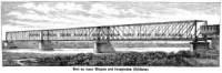 Most na rzece Wieprzu pod Iwangrodem (Dęblinem) - zdjęcie reprintu, mapy