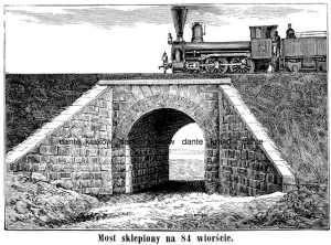 Most sklepiony na 84 wiorście - zdjęcie reprintu, mapy