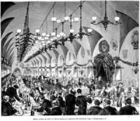 Obiad, wydany na cześć J.I.Kraszewskiego w Sukiennicach - zdjęcie reprintu, mapy