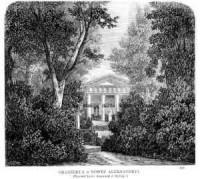 Puławy. Oranżerya w Nowej Aleksandryi - zdjęcie reprintu, mapy