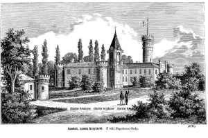 Raudań, zamek Krzyżacki - zdjęcie reprintu, mapy