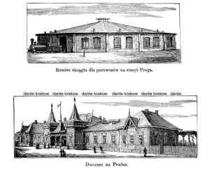 Remiza okrągła dla parowozów na - zdjęcie reprintu, mapy