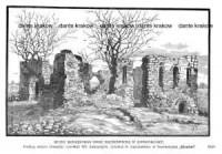 Ruiny rodzinnego domu Mickiewicza w Nowogródku - zdjęcie reprintu, mapy