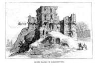 Ruiny Zamku w Bodzentynie - zdjęcie reprintu, mapy