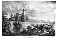 Ruiny zamku w Janowcu - zdjęcie reprintu, mapy