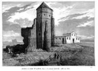 Ruiny zamku w Liwie - zdjęcie reprintu, mapy