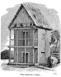 Stary śpichlerek w Płonce - zdjęcie reprintu, mapy