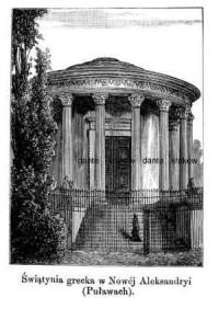 Świątynia grecka w Nowej Aleksandryi - zdjęcie reprintu, mapy