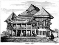 Synagoga w Nasielsku - zdjęcie reprintu, mapy