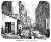 Ulica Brzozowa od strony ulicy Celnej - zdjęcie reprintu, mapy