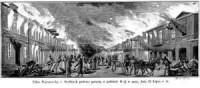 Ulica Warszawska w Siedlcach podczas - zdjęcie reprintu, mapy