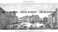 Warszawa. Plac Zygmuntowski z widokiem - zdjęcie reprintu, mapy