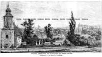 Widok Krakowa od kościoła Sgo Salwatora - zdjęcie reprintu, mapy