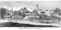 Widok miasta Koła - zdjęcie reprintu, mapy