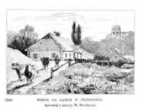 Widok na Zamek w Przemyślu - zdjęcie reprintu, mapy