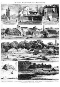 Widoki Mokotowa pod Warszawą - zdjęcie reprintu, mapy