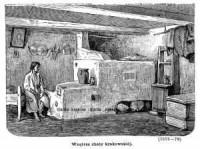 Wnętrze chaty krakowskiej - zdjęcie reprintu, mapy
