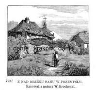 Z nad brzegu Sanu w Przemyślu - zdjęcie reprintu, mapy
