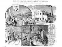 Zakłady fabryczne Tworkowskiego w Warszawie - zdjęcie reprintu, mapy