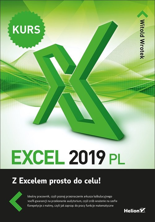 Excel 2019 PL. Kurs - okładka książki