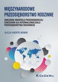 Międzynarodowe przedsiębiorstwo - okładka książki
