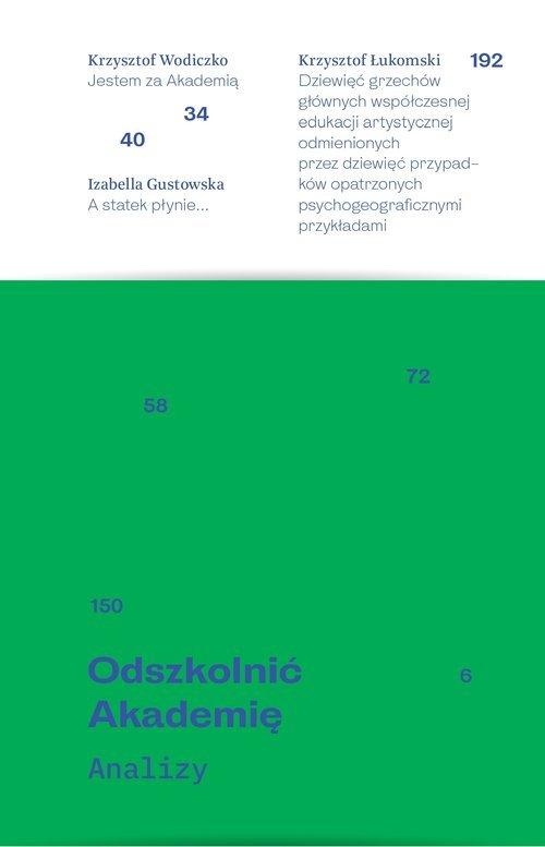 Odszkolnić Akademię / Galeria Arsenał - okładka podręcznika