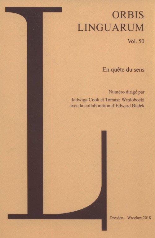 Orbis Linguarum vol 50 - okładka książki