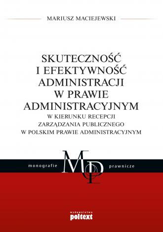 Skuteczność i efektywność administracji - okładka książki
