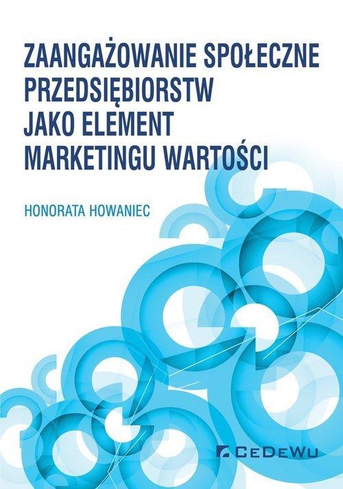 Zaangażowanie społeczne przedsiębiorstw - okładka książki