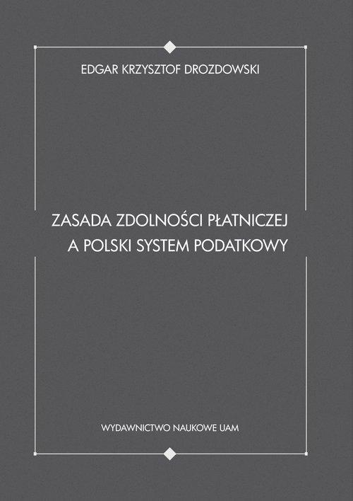 Zasada zdolności płatniczej a polski - okładka książki