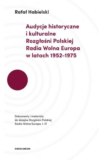 Audycje historyczne i kulturalne - okładka książki