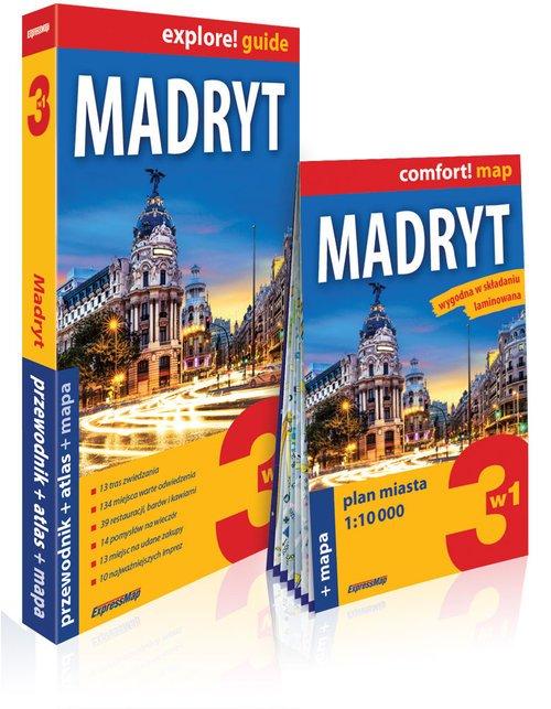 Explore! guide Madryt 3w1 - okładka książki