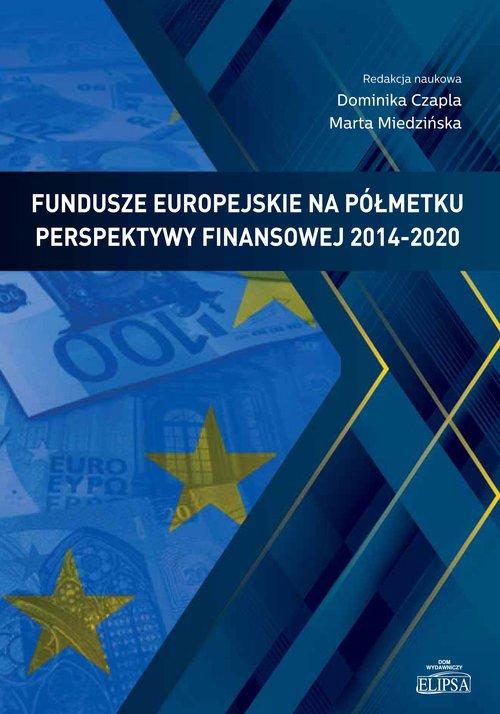 Fundusze europejskie na półmetku - okładka książki
