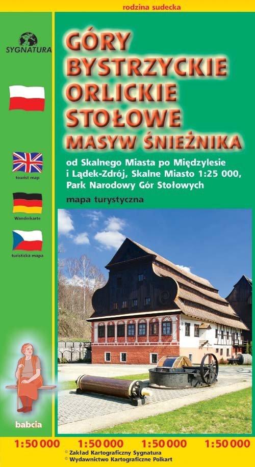 Góry Bystrzyckie Orlickie Stołowe.. - okładka książki